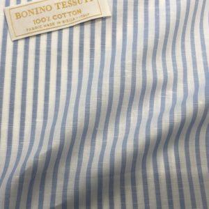 イタリア製コットンシャツ:ブルーストライプ