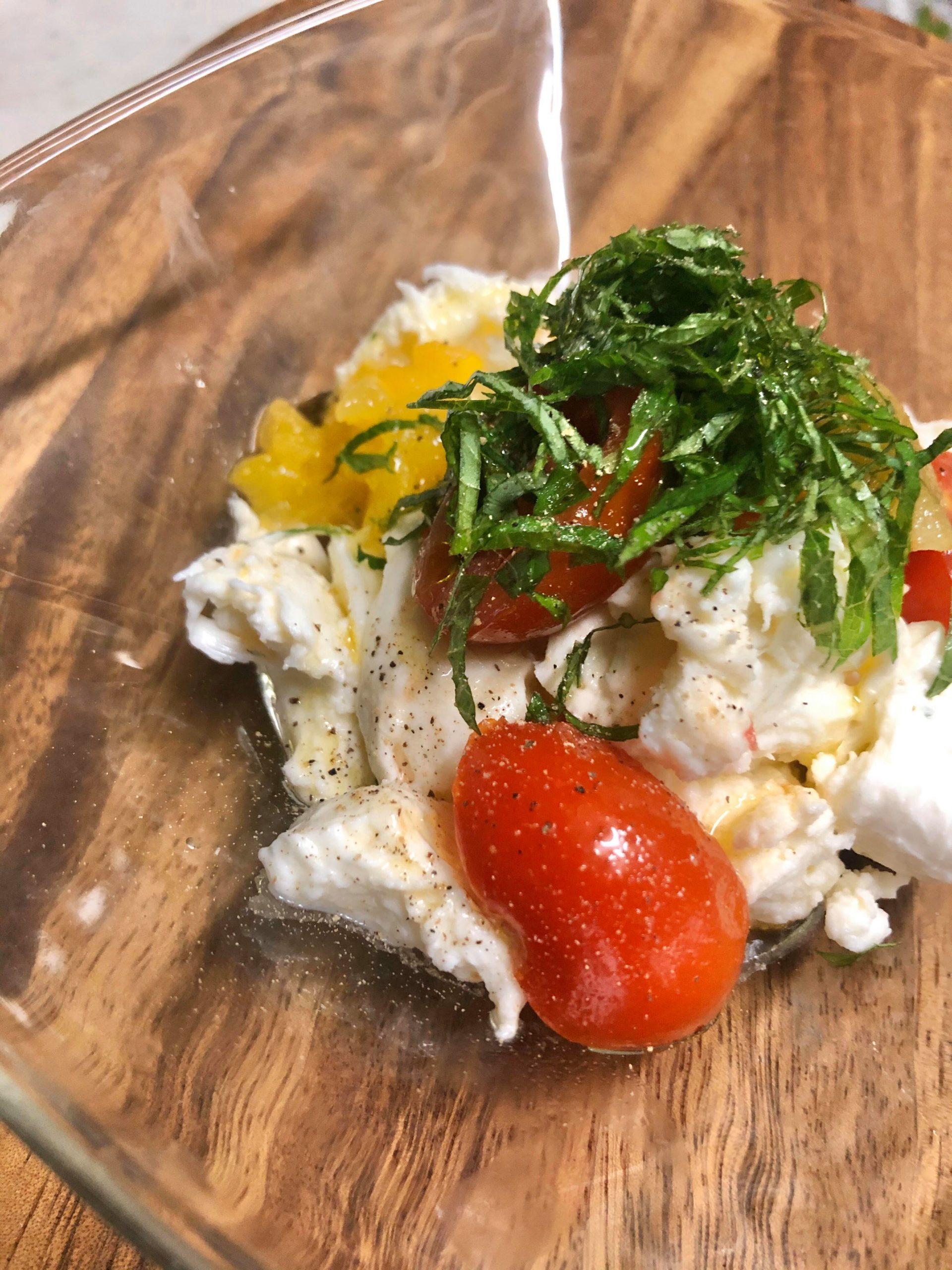 岩田先生のお料理教室:そら豆のペペロンチーノ&大葉とモッツァレラのサラダ