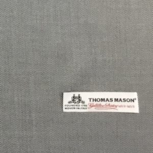 イタリア製コットン100%シャツワンピース:ThomasMason140グレー