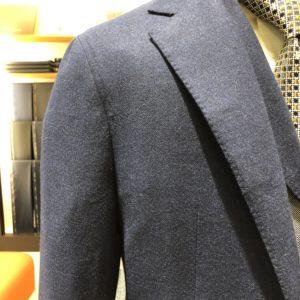 ゼニアジャケット:トロフェオカシミヤ/ダークブルー