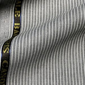 カノニコスーツ:シルバーグレーペンシルストライプ