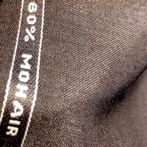 英国服地スーツ:鉄紺60%モヘア