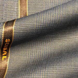 スキャバルスーツ:グリーン&ベージュグレンチェック清涼感抜群モヘア