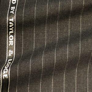 テーラーロッジスーツ:グレーチョークストライプ